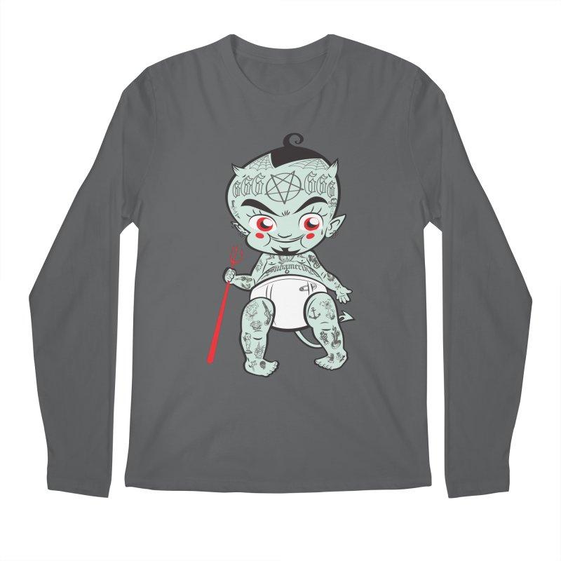 Little devil Men's Regular Longsleeve T-Shirt by monoestudio's Artist Shop