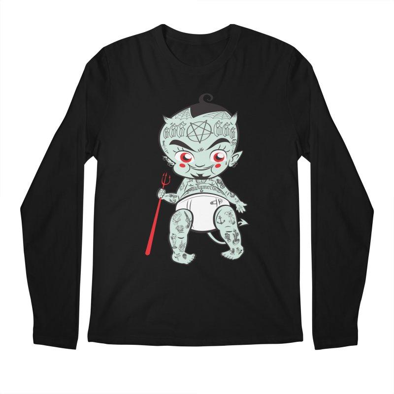Little devil Men's Longsleeve T-Shirt by monoestudio's Artist Shop