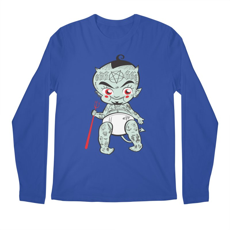 Little devil Men's Longsleeve T-Shirt by monoestudio's Artist Shop