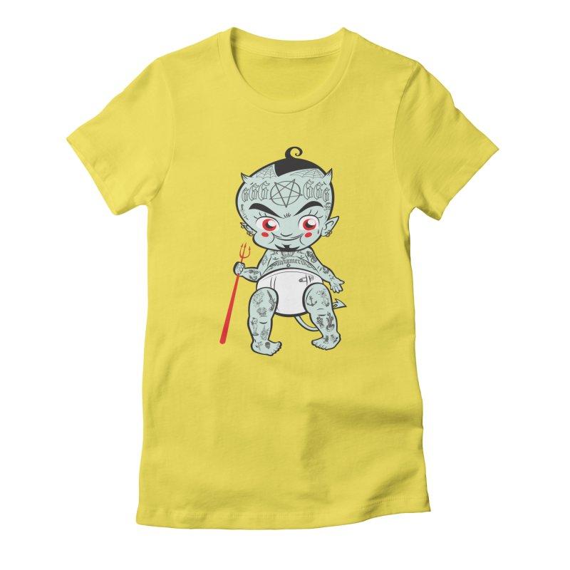 Little devil Women's T-Shirt by monoestudio's Artist Shop