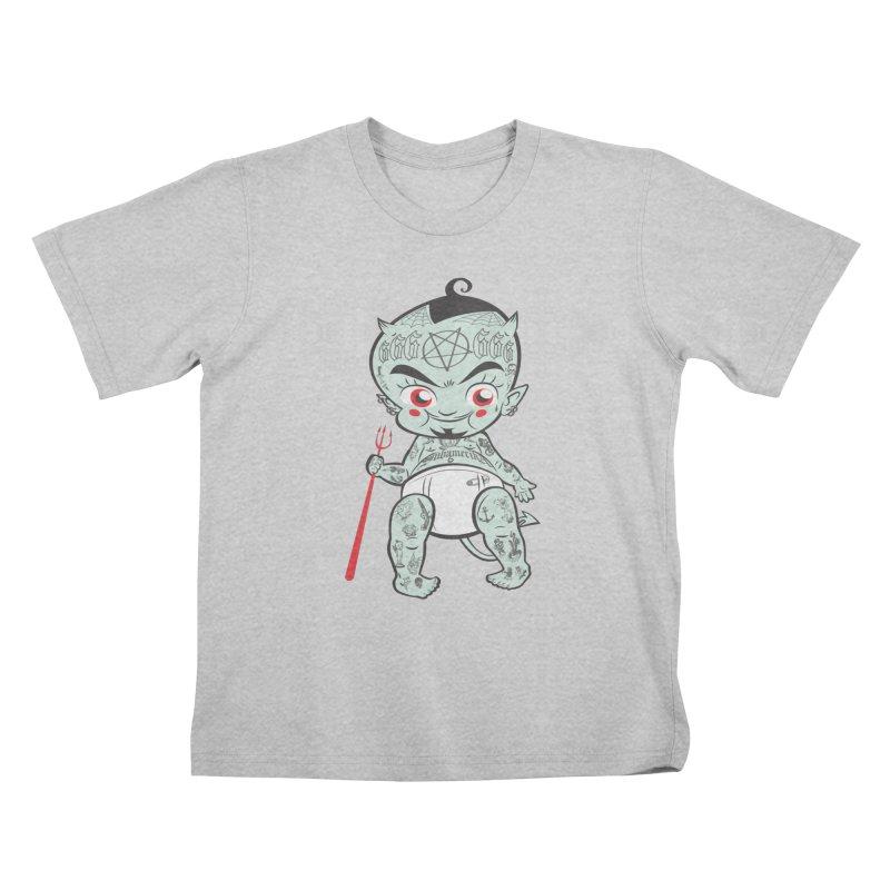 Little devil Kids T-Shirt by monoestudio's Artist Shop