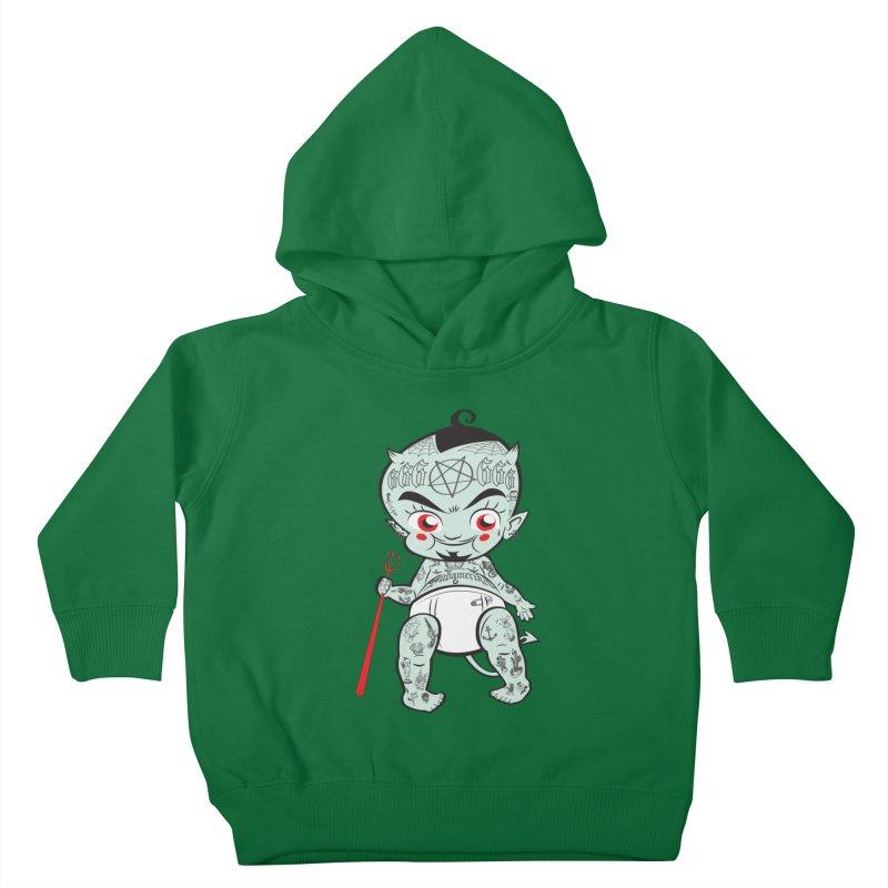 Little devil Kids Toddler Pullover Hoody by monoestudio's Artist Shop