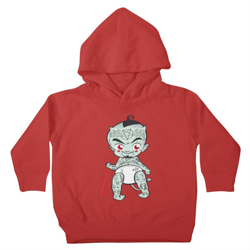 Little devil Kids Toddler Pullover Hoody by monoestudio's Artist Shop