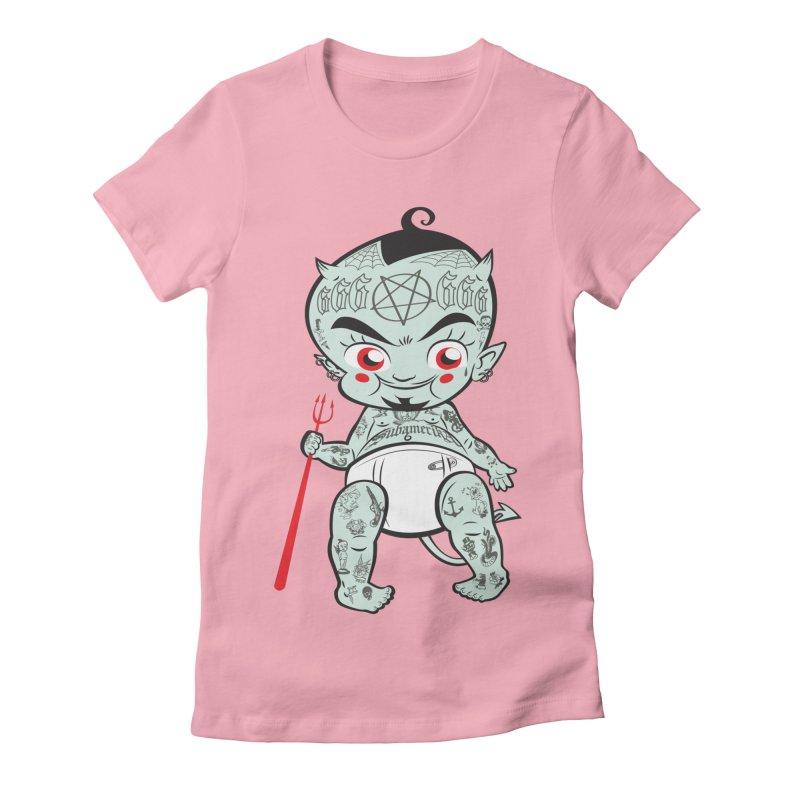 Little devil Women's Fitted T-Shirt by monoestudio's Artist Shop