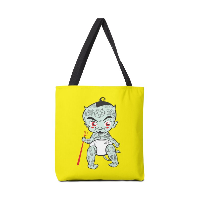 Little devil Accessories Tote Bag Bag by monoestudio's Artist Shop
