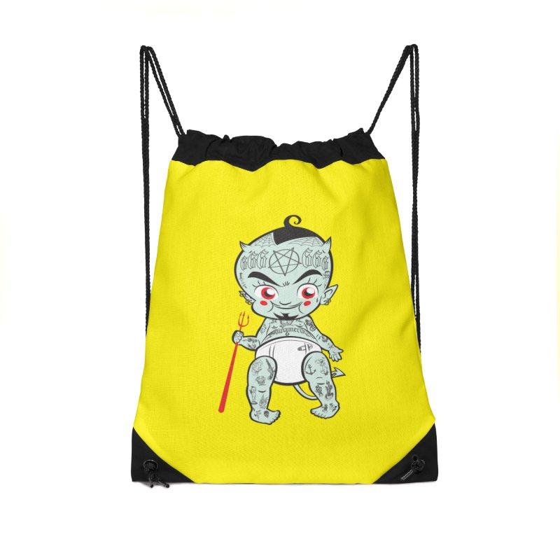 Little devil Accessories Drawstring Bag Bag by monoestudio's Artist Shop