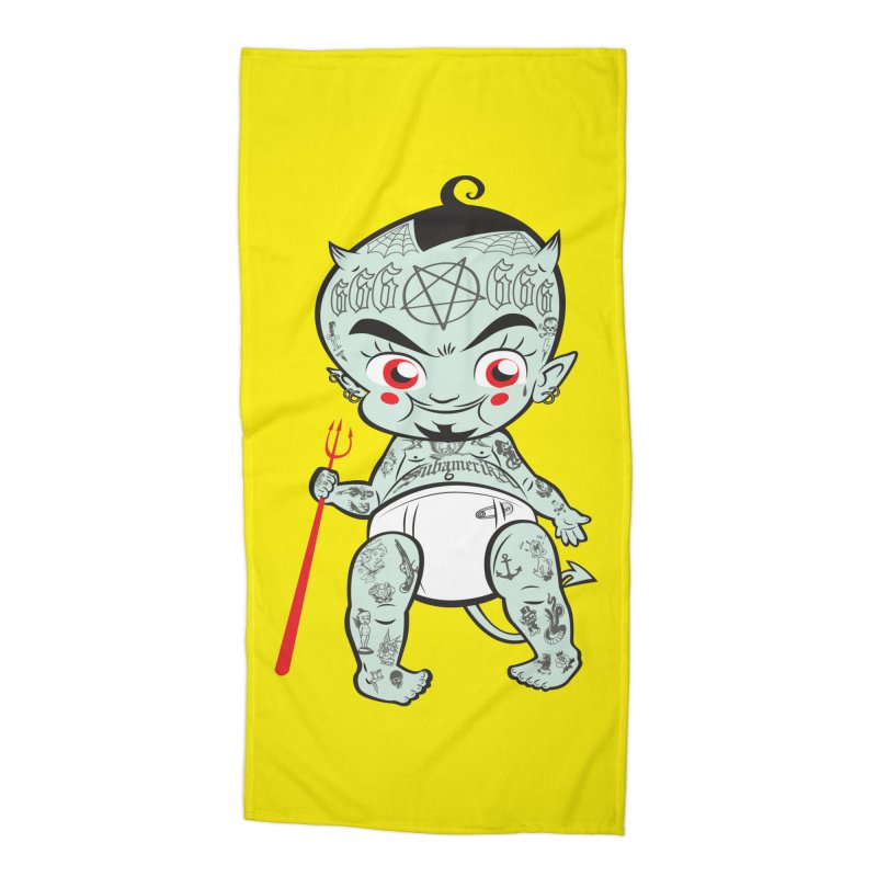 Little devil Accessories Beach Towel by monoestudio's Artist Shop