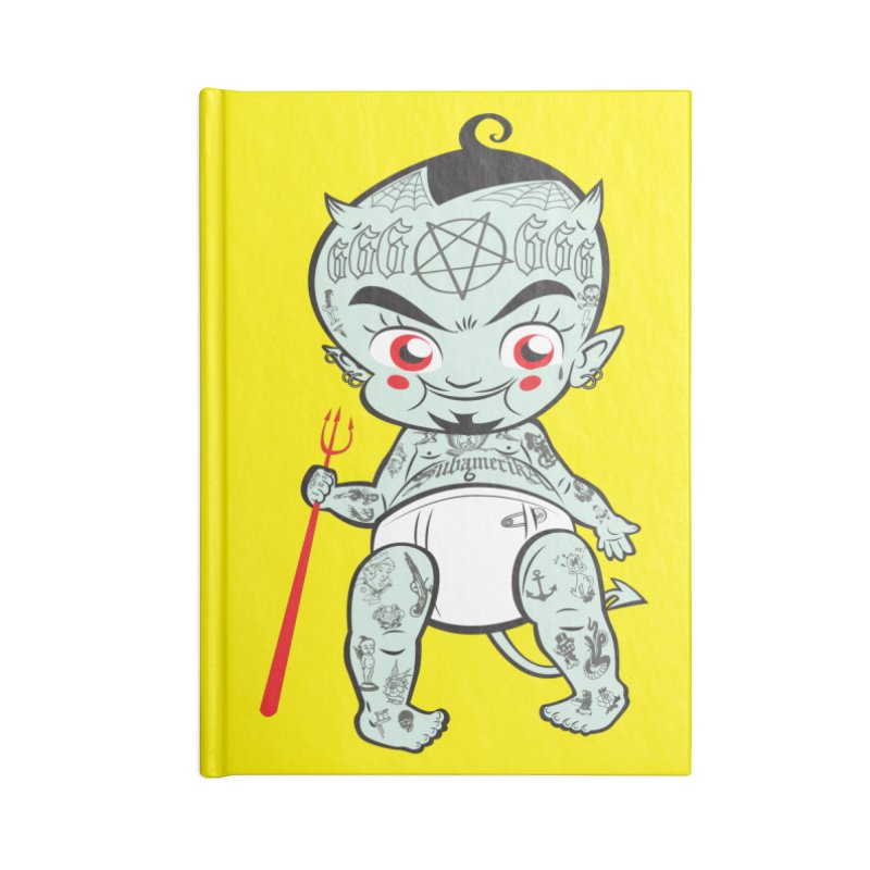Little devil Accessories Lined Journal Notebook by monoestudio's Artist Shop