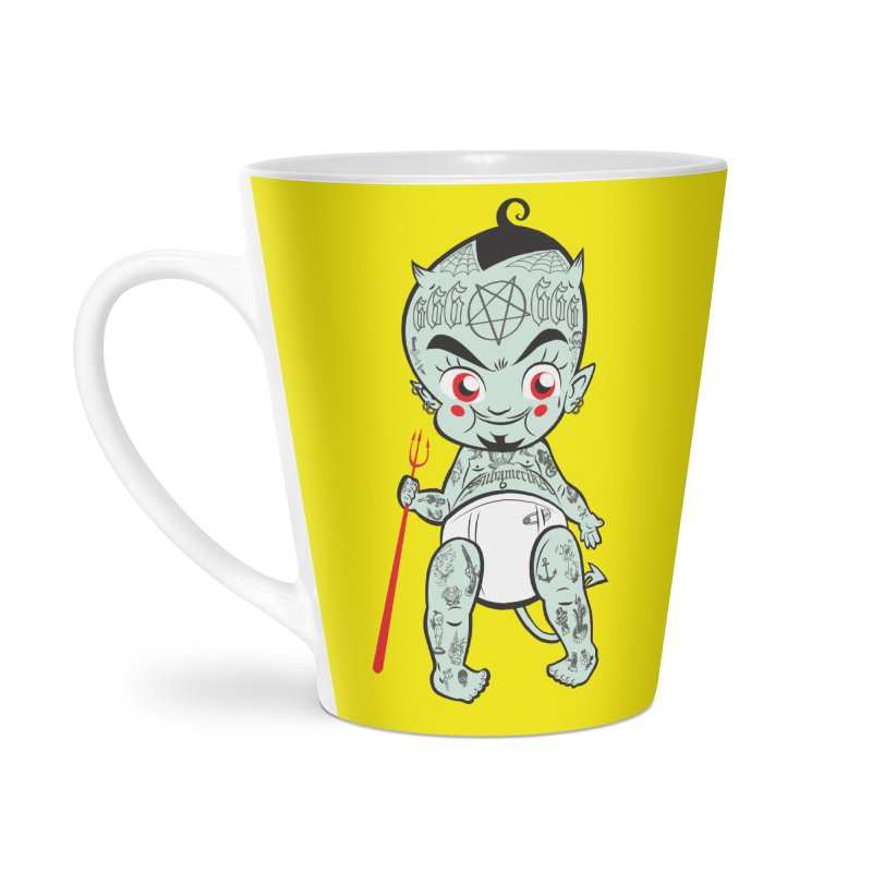 Little devil Accessories Latte Mug by monoestudio's Artist Shop