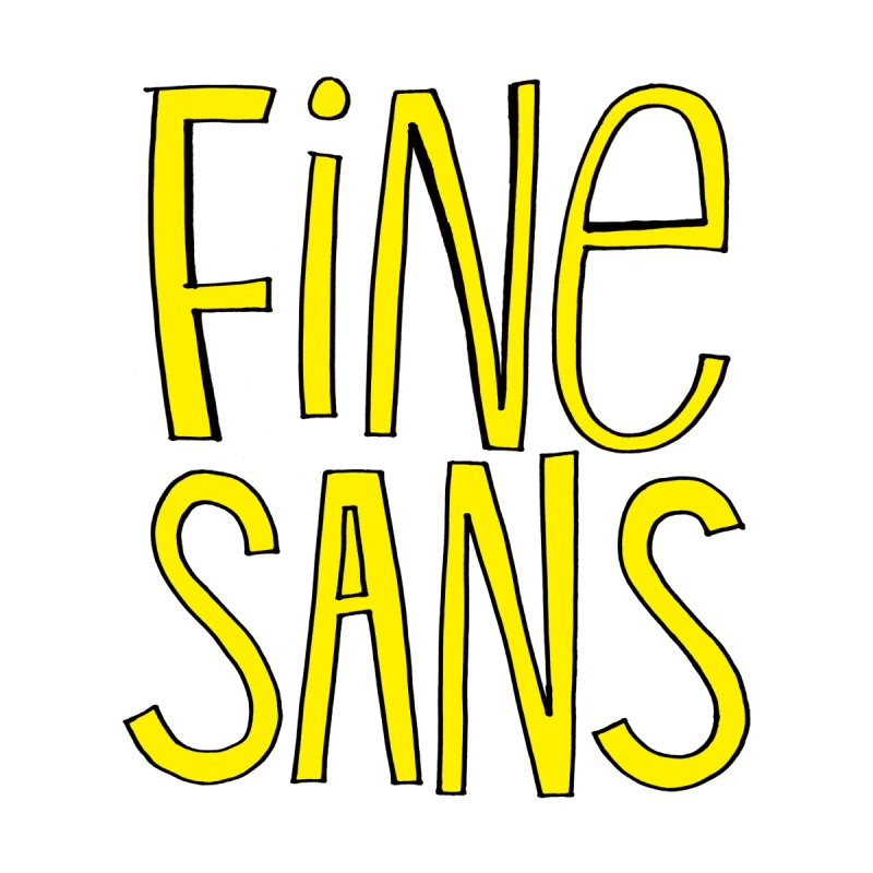 Fine Sans Men's T-shirt by