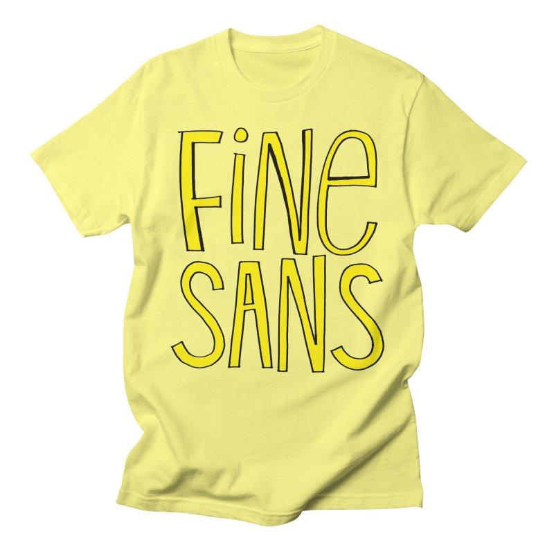 Fine Sans Men's Regular T-Shirt by