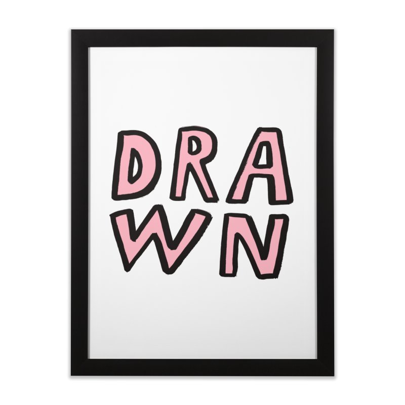 Drawn Home Framed Fine Art Print by