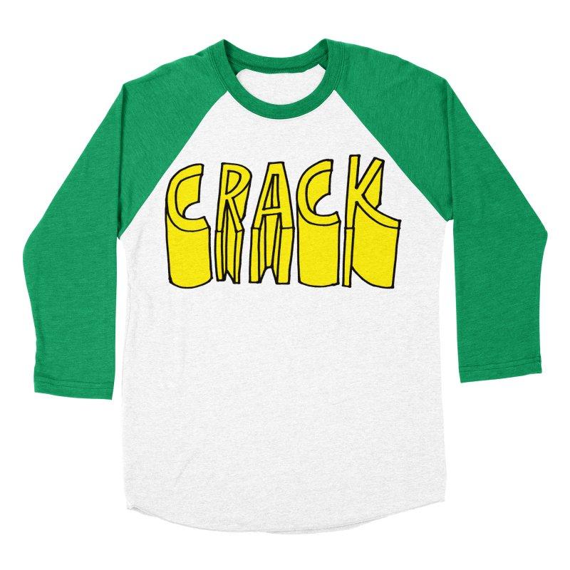 Crack Men's Baseball Triblend Longsleeve T-Shirt by
