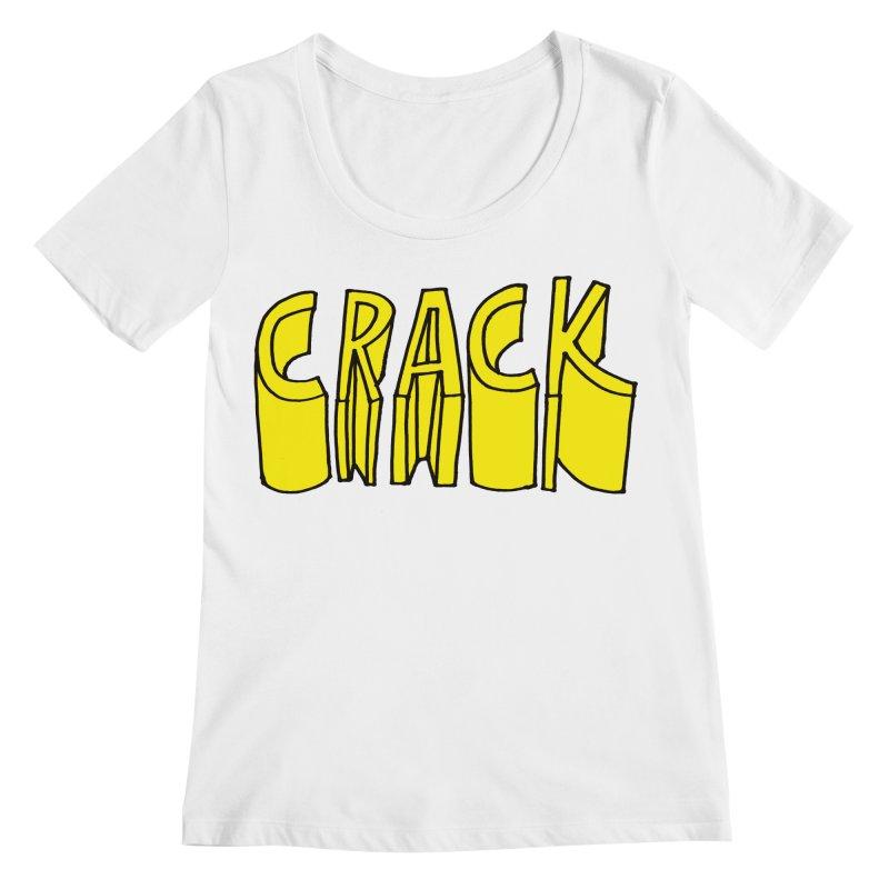 Crack Women's Regular Scoop Neck by