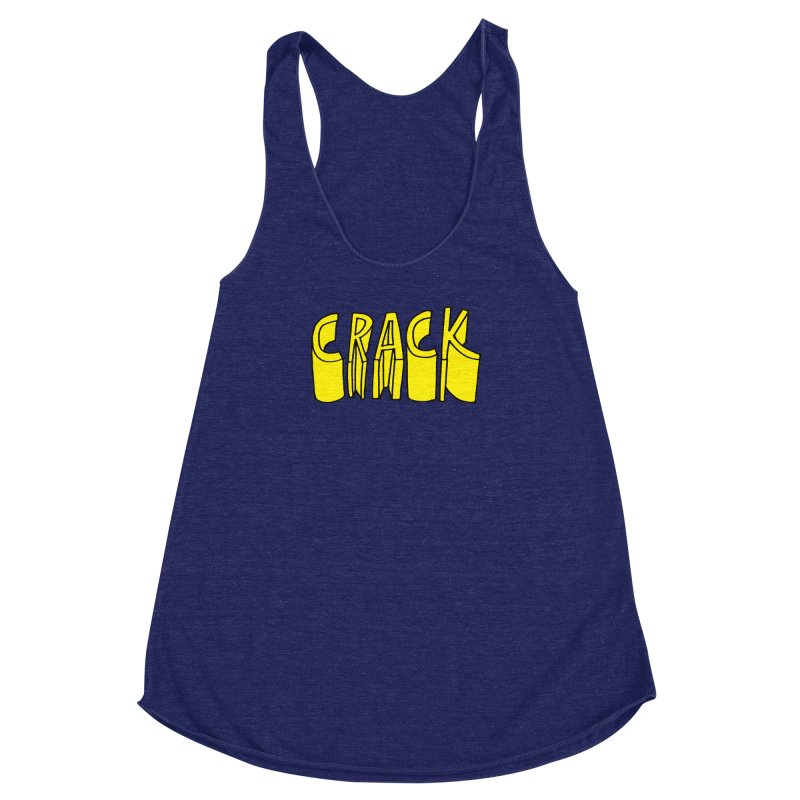 Crack Women's Racerback Triblend Tank by
