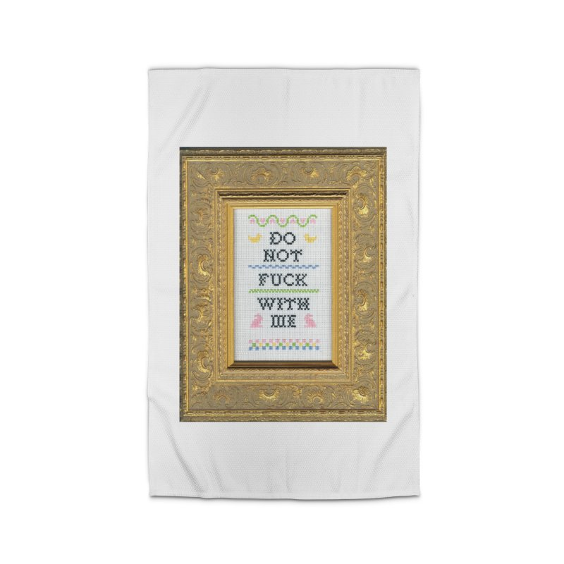 Do Not Fuck With Me Home Rug by Subversive Cross Stitch
