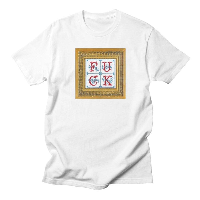 Fancy Fuck Men's T-Shirt by Subversive Cross Stitch