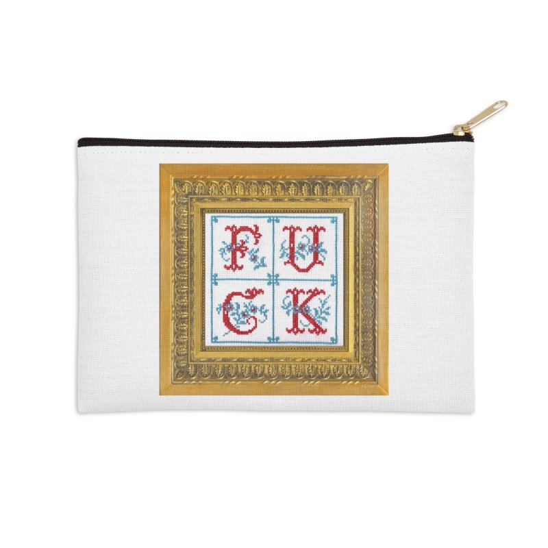 Fancy Fuck Accessories Zip Pouch by subversivecrossstitch's Artist Shop