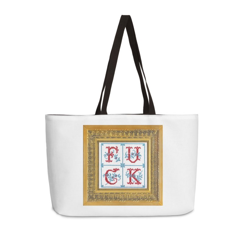 Fancy Fuck Accessories Weekender Bag Bag by Subversive Cross Stitch