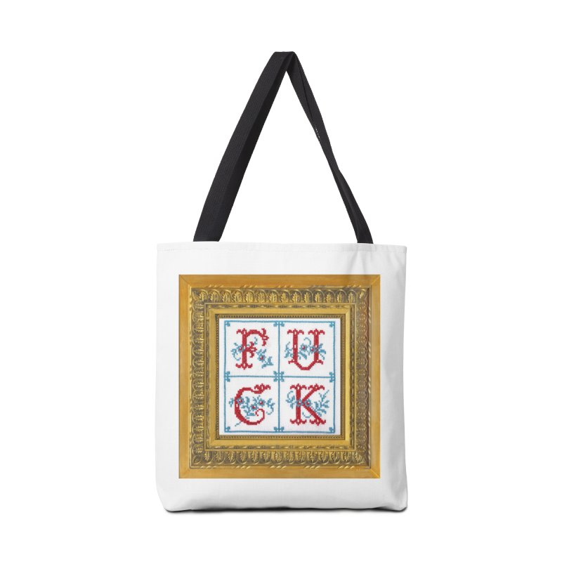 Fancy Fuck Accessories Tote Bag Bag by Subversive Cross Stitch