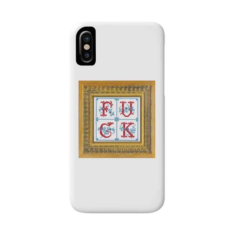 Fancy Fuck Accessories Phone Case by Subversive Cross Stitch