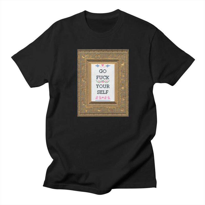 Go Fuck Yourself Men's Regular T-Shirt by subversivecrossstitch's Artist Shop