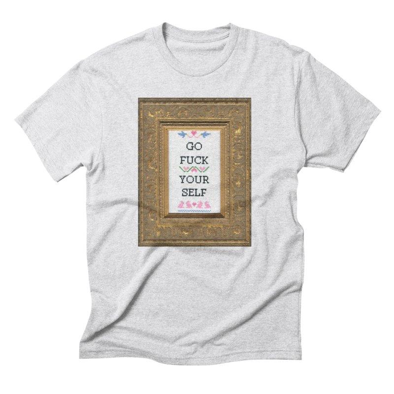 Go Fuck Yourself Men's Triblend T-shirt by subversivecrossstitch's Artist Shop