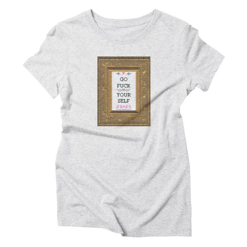 Go Fuck Yourself Women's T-Shirt by Subversive Cross Stitch