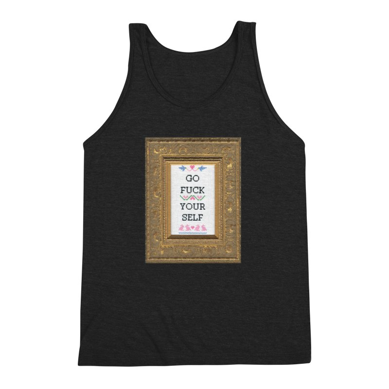 Go Fuck Yourself Men's Triblend Tank by Subversive Cross Stitch
