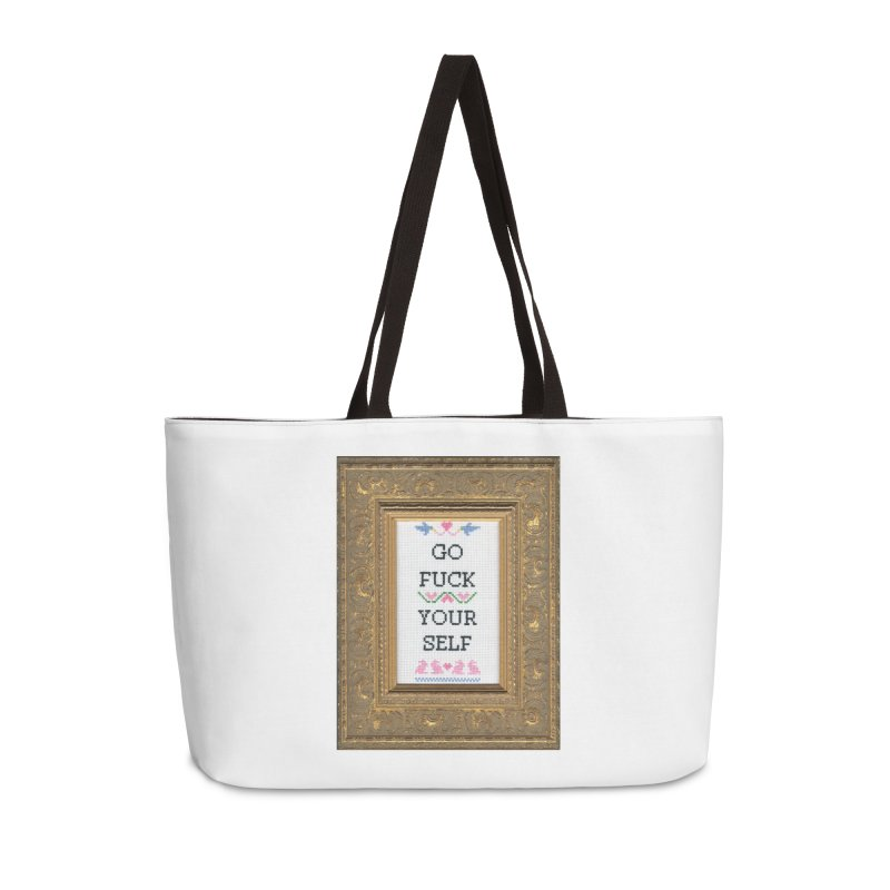 Go Fuck Yourself Accessories Weekender Bag Bag by Subversive Cross Stitch
