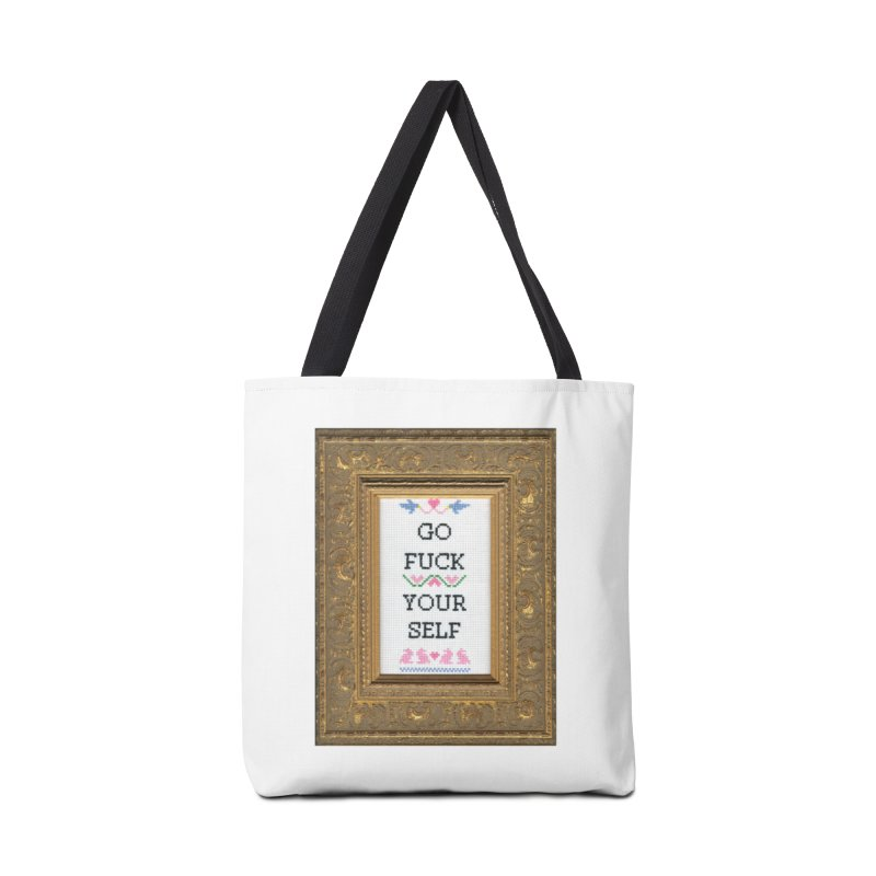 Go Fuck Yourself Accessories Bag by subversivecrossstitch's Artist Shop