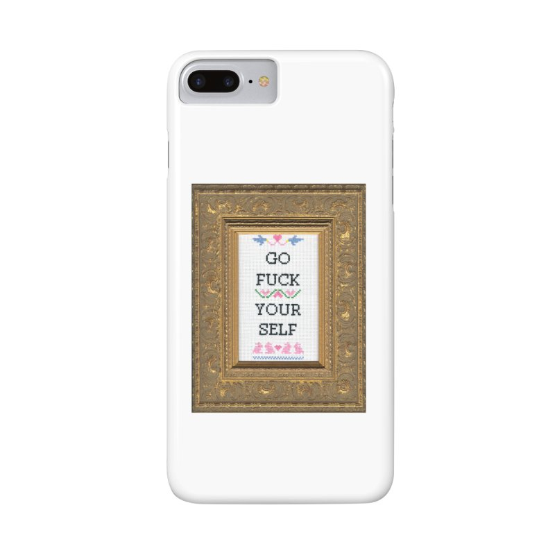 Go Fuck Yourself Accessories Phone Case by subversivecrossstitch's Artist Shop