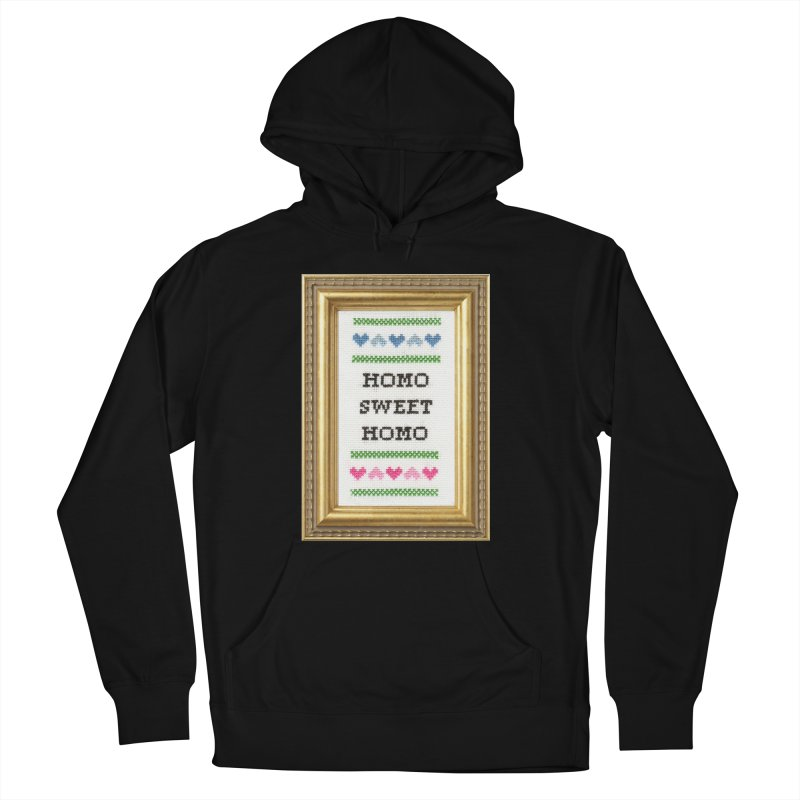 Homo Sweet Homo Men's Pullover Hoody by Subversive Cross Stitch
