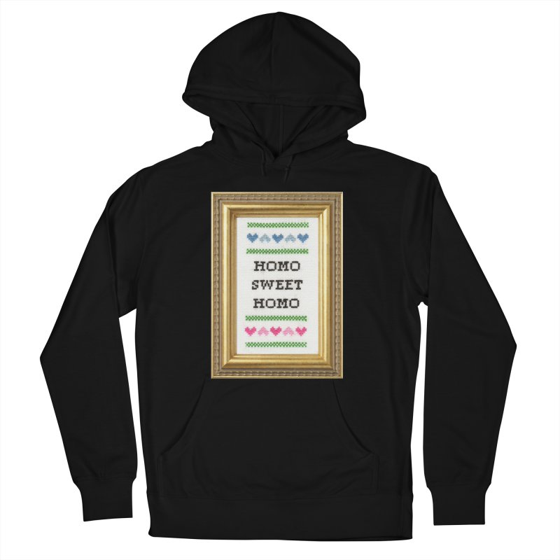 Homo Sweet Homo Men's French Terry Pullover Hoody by subversivecrossstitch's Artist Shop