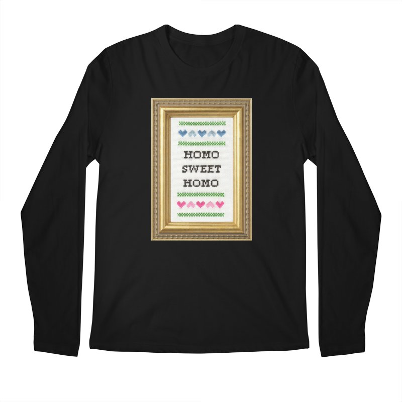 Homo Sweet Homo Men's Regular Longsleeve T-Shirt by Subversive Cross Stitch