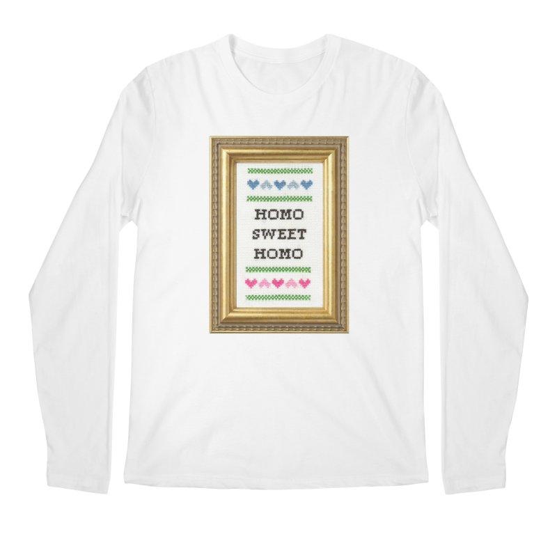 Homo Sweet Homo Men's Longsleeve T-Shirt by subversivecrossstitch's Artist Shop