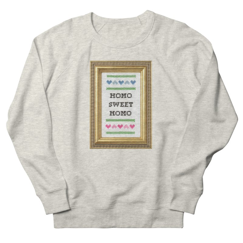 Homo Sweet Homo Men's Sweatshirt by subversivecrossstitch's Artist Shop