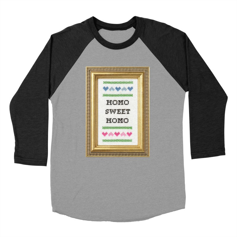 Homo Sweet Homo Men's Baseball Triblend Longsleeve T-Shirt by Subversive Cross Stitch