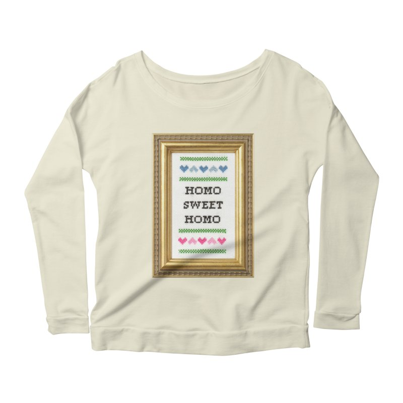Homo Sweet Homo Women's Scoop Neck Longsleeve T-Shirt by subversivecrossstitch's Artist Shop
