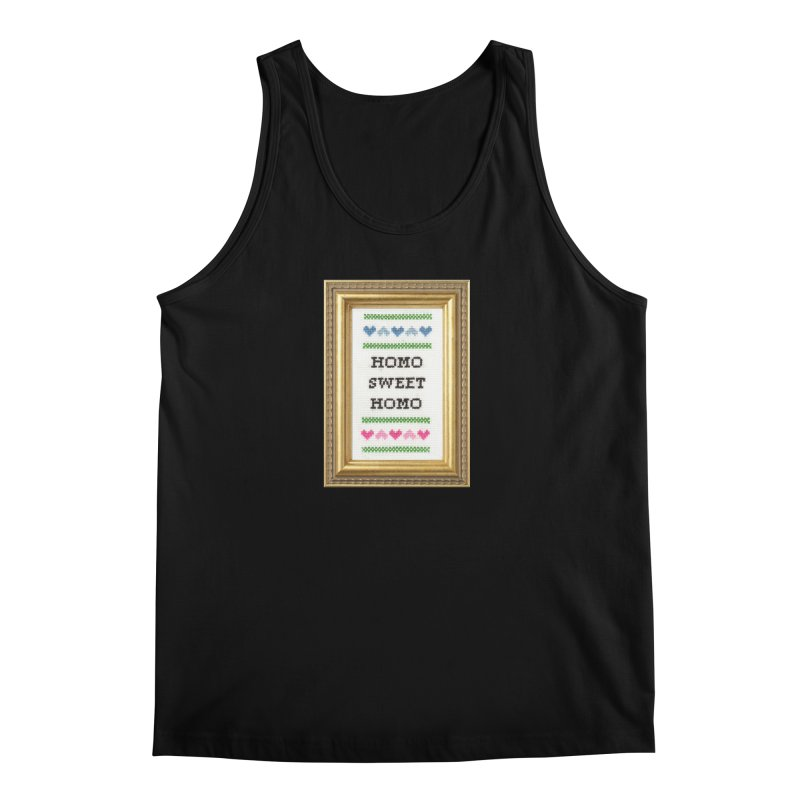 Homo Sweet Homo Men's Tank by Subversive Cross Stitch