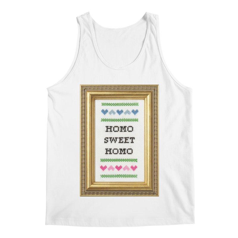 Homo Sweet Homo Men's Regular Tank by Subversive Cross Stitch