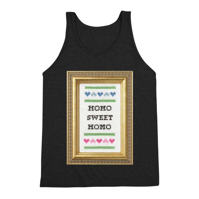 Homo Sweet Homo Men's Triblend Tank by Subversive Cross Stitch
