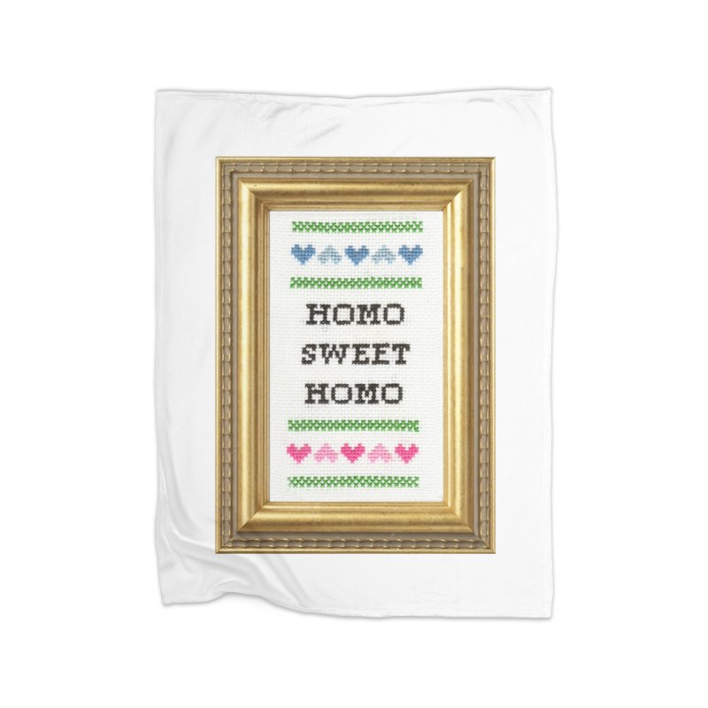 Homo Sweet Homo Home Blanket by subversivecrossstitch's Artist Shop