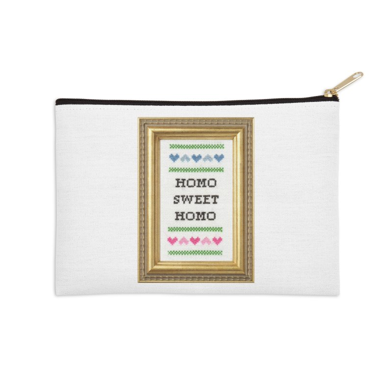 Homo Sweet Homo Accessories Zip Pouch by subversivecrossstitch's Artist Shop