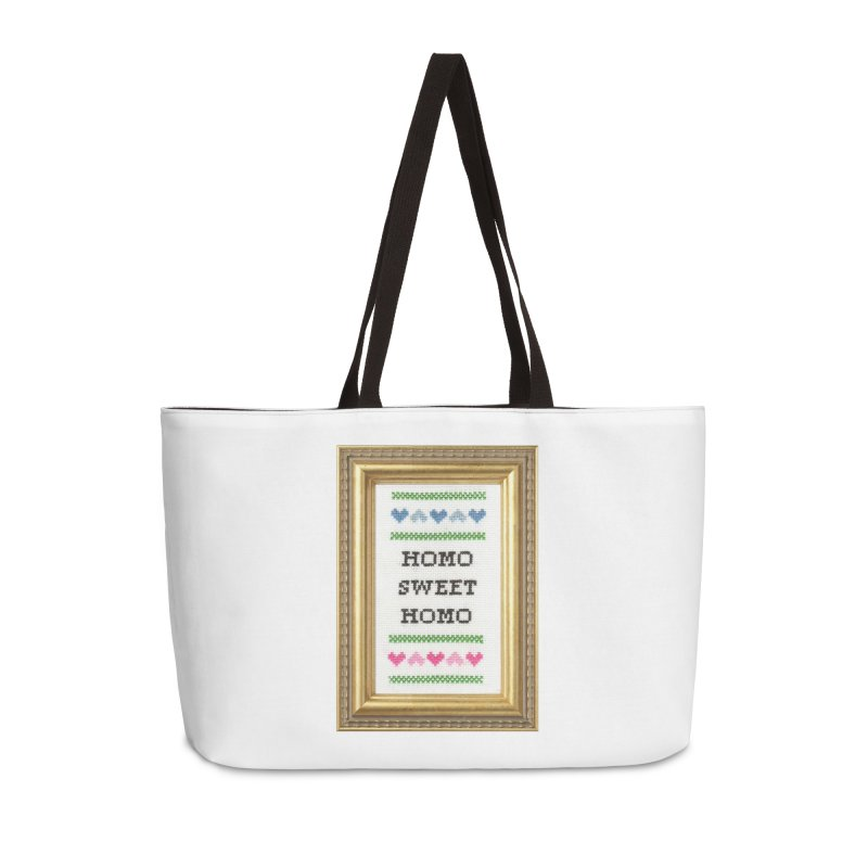 Homo Sweet Homo Accessories Weekender Bag Bag by Subversive Cross Stitch