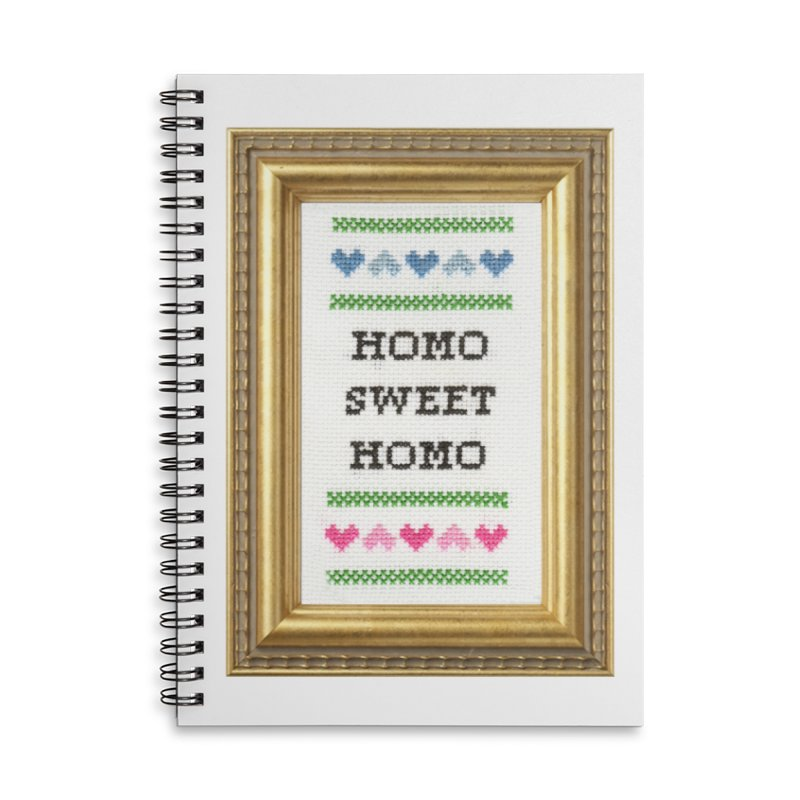 Homo Sweet Homo Accessories Lined Spiral Notebook by Subversive Cross Stitch