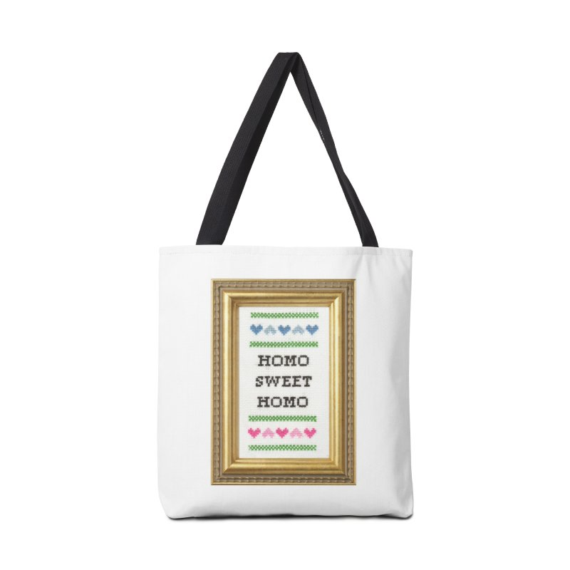 Homo Sweet Homo Accessories Tote Bag Bag by Subversive Cross Stitch