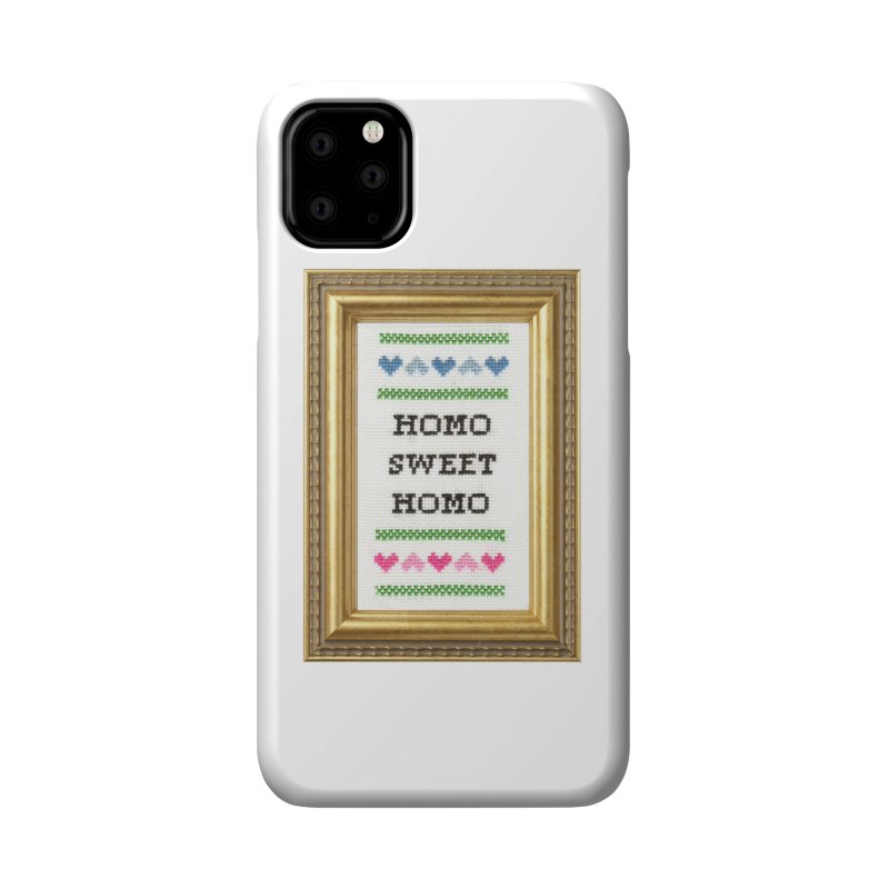 Homo Sweet Homo Accessories Phone Case by Subversive Cross Stitch