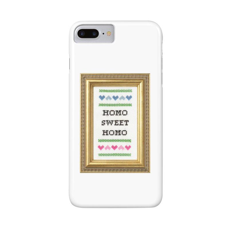 Homo Sweet Homo Accessories Phone Case by subversivecrossstitch's Artist Shop