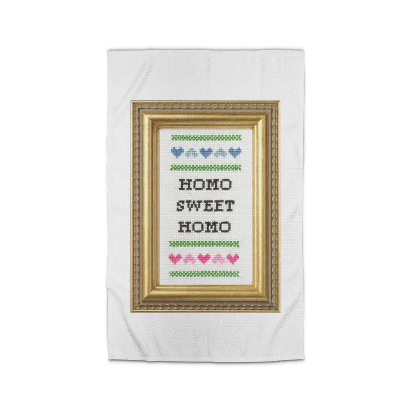 Homo Sweet Homo Home Rug by subversivecrossstitch's Artist Shop